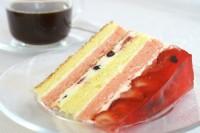 Tort budyniowy z owocami i galaretką
