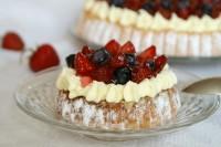 Tartaletki biszkoptowe z truskawkami
