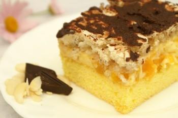 Ciasto brzoskwiniowo-migdałowe