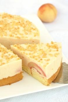 Ciasto z brzoskwiniową pianką