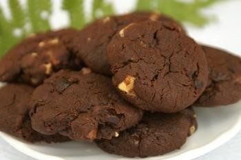 Ciasteczka potrójnie czekoladowe